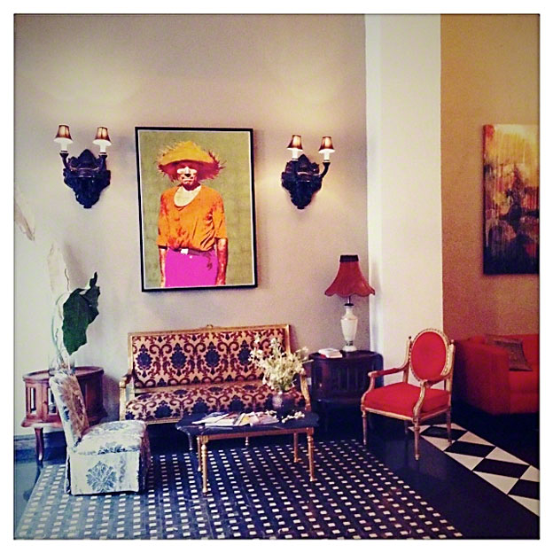 Lobby of the Hotel Casa Blanca